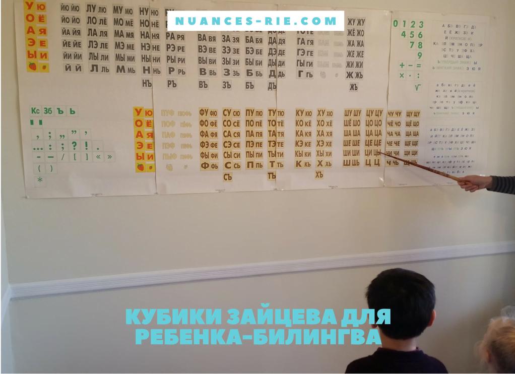 Кубики Зайцева для ребенка-билингва